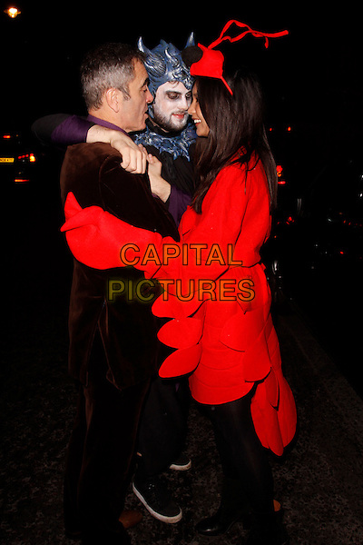 LONDON, ENGLAND - OCTOBER 31: James Nesbitt, Jack Whitehall and Gemma Chan leaving the  UNICEF UK Halloween Ball at One Mayfair on October 31st, 2013 in London, England, UK.<br /> CAP/AH<br /> &copy;Adam Houghton/Capital Pictures