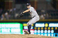 Scranton/Wilkes-Barre RailRiders relief pitcher Will Carter (60) in action against the Charlotte Knights at BB&T BallPark on August 13, 2019 in Charlotte, North Carolina. The Knights defeated the RailRiders 15-1. (Brian Westerholt/Four Seam Images)