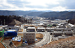 March 4, 2016, Miyako City, Japan - A housing project is being built on a hill, some 40 meters above the town center near Miyako City, Iwate prefecture, northeastern Japan on Friday, March 4, 2016. On March 11, Japan marks the five-year anniversary of the devastating earthquake and tsunami that struck the northeastern region of the country and left more than 18,000 people dead or missing.  (Photo by Natsuki Sakai/AFLO) AYF -mis-