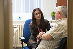 Health and Care Research Wales Support Centre.<br /> Vaughan Gethin AM visit to St Woolos Hospital.<br /> 10.07.17<br /> &copy;Steve Pope - Fotowales