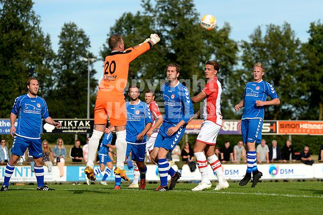 EMMEN - Voetbal, VV Emmen - FC Emmen, voorbereiding seizoen 2018-2019, 07-07-2018,  Ronald Falke redt met de vuisten