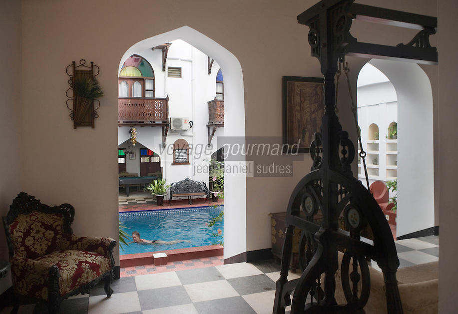 Afrique/Afrique de l'Est/Tanzanie/Zanzibar/Ile Unguja/Stone Town: Dhow Palace Hotel la piscine
