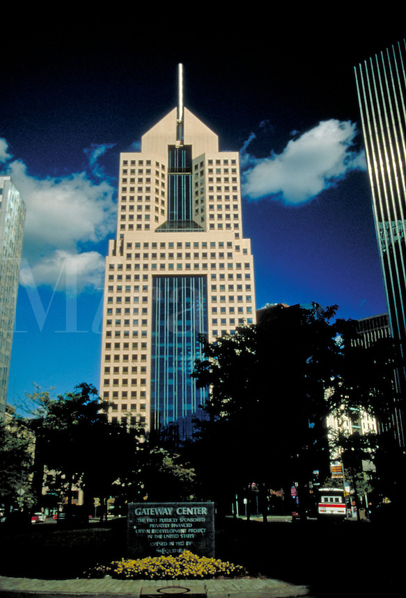 In Pittsburgh's golden triangle one of the newest high-rises is located near Gateway Center. Pittsburgh Pennsylvania United States Fifth Avenue Place.