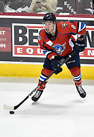 HERSHEY, PA - DECEMBER 01: Springfield Thunderbirds forward Jayce Hawryluk (8) stickhandles in the neutral zone during the Springfield Thunderbirds at Hershey Bears on December 1, 2018 at the Giant Center in Hershey, PA. (Photo by Randy Litzinger/Icon Sportswire)