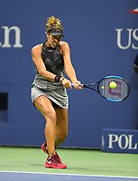 FLUSHING NY- SEPTEMBER 04: ***NO NY DAILIES***  Madison Keys Vs Elina Svitolina: Madison Keys returns a volley against Elina Svitolina on Arthur Ashe Stadium during the US Open at the USTA Billie Jean King National Tennis Center on September 4, 2017 in Flushing Queens. Credit: mpi04/MediaPunch