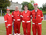 Red Cross members Hazel O'Donoghue, Steven Clarke, Anette Fitzpatrick and Stephen O'Donoghue at Oldbridge House County Fair. Photo:Colin Bell/pressphotos.ie