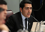 Nevada Assemblyman Nelson Araujo, D-Las Vegas, works in committee at the Legislative Building in Carson City, Nev., on Friday, March 13, 2015. <br /> Photo by Cathleen Allison