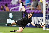 Orlando, FL - Saturday July 07, 2018: Kelsey Wys prior to a regular season National Women's Soccer League (NWSL) match between the Orlando Pride and the Washington Spirit at Orlando City Stadium.