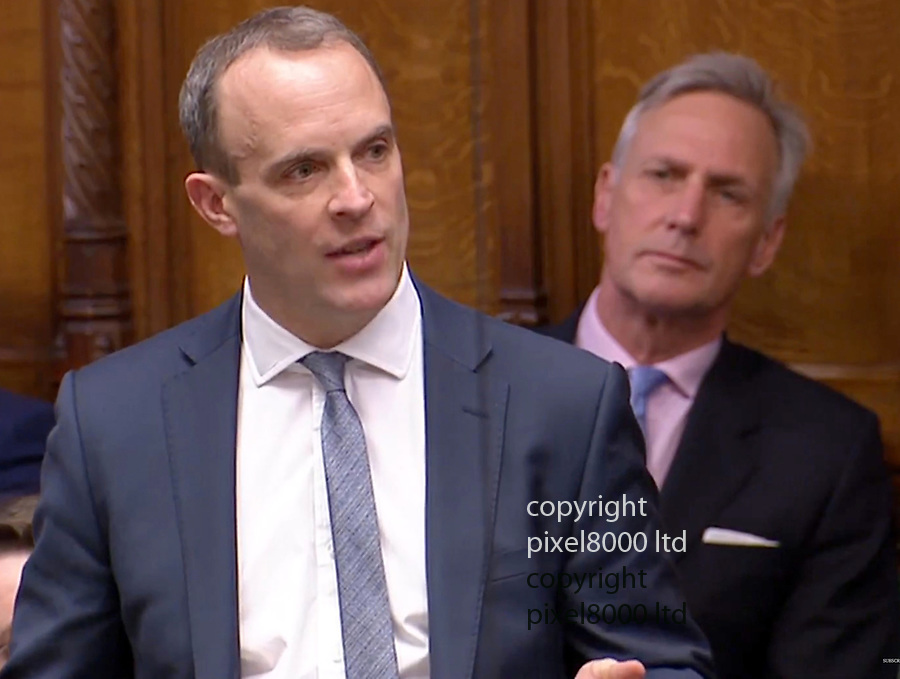 PM THERESA MAY statement in commons on Brexit 17.12.18<br /> <br /> Dominic Raab<br /> <br /> <br /> <br /> Picture by Pixel8000 07917221968