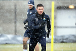 St Johnstone Training&hellip;22.01.19   McDiarmid Park<br />Michael O&rsquo;Halloran pictured during a snowy training session this morning ahead of tomorrow night&rsquo;s game against Livingston.<br />Picture by Graeme Hart.<br />Copyright Perthshire Picture Agency<br />Tel: 01738 623350  Mobile: 07990 594431