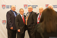 San Francisco, CA - Saturday Feb. 14, 2015: Cocktail hour at US Soccer Hall of Fame Induction ceremony.