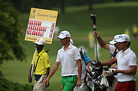 Hit and miss card of 75 for Matteo Manassero (ITA)<br /> during the Final Round of the 2014 Maybank Malaysian Open at the Kuala Lumpur Golf &amp; Country Club, Kuala Lumpur, Malaysia. Picture:  David Lloyd / www.golffile.ie