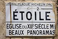 urope/France/Rhône-Alpes/26/Drôme/Etoile-sur-Rhône :  Vieux panneau d'information touristique de la Nationale 7