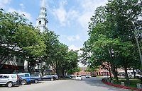 Keene New Hampshire NH downtown city center called Center Green Central Square in village