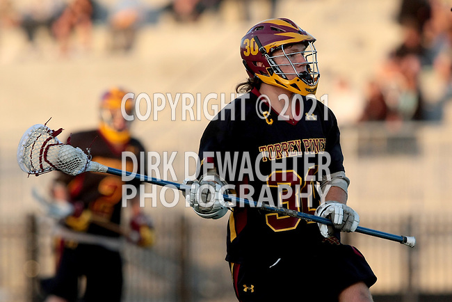 San Diego, CA 05/29/10 - Tucker Chambers (Torrey Pines # 30) in action during the La Costa Canyon vs Torrey Pines boys lacrosse game for the 2010 San Diego Section CIF Championship, hosted at Del Norte High School.  La Costa Canyon defeated Torrey Pines 12-6.