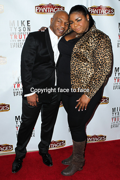 """Mike Tyson, Mikey Tyson attending the """"Mike Tyson: Undisputed Truth"""" Los Angeles Opening Night held at The Pantages Theatre on March 8, 2013 in Hollywood, California. ..Credit: MediaPunch/face to face..- Germany, Austria, Switzerland, Eastern Europe, Australia, UK, USA, Taiwan, Singapore, China, Malaysia and Thailand rights only -"""