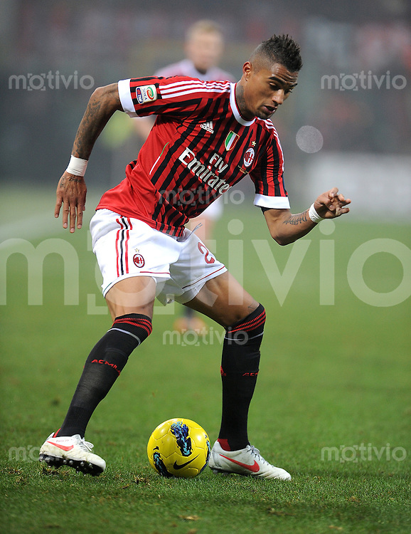 FUSSBALL INTERNATIONAL   SERIE A   SAISON  2011/2012   18.Spieltag AC Mailand - Inter Mailand                     15.01.2012 Kevin Prince Boateng (AC Mailand)