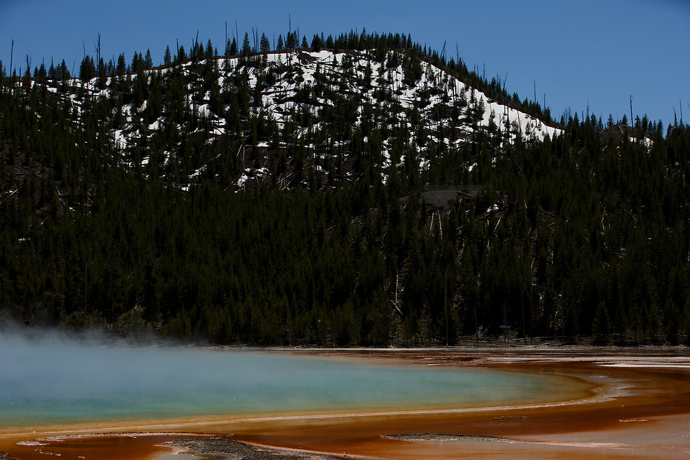 The Grand Prismatic Spring is pictured in Yellowstone National Park, Wyoming on Tuesday, May 23, 2017. (Photo by James Brosher)