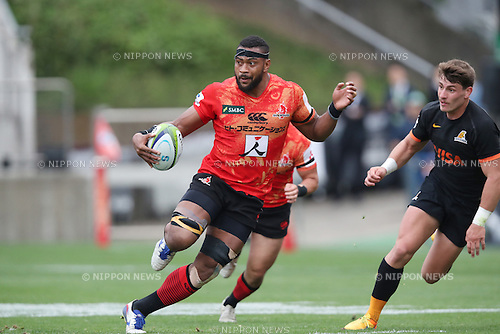 Andrew Durutalo (Sunwolves),<br /> APRIL 23, 2016 - Rugby : Super Rugby match between Sunwolves 36-28 Jaguares at Prince Chichibu Memorial Stadium in Tokyo, Japan. (Photo by AFLO SPORT)