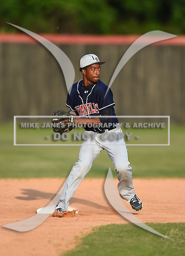 Lake Brantley Patriots infielder Jay Charleston (06) during practice before a game against the Lake Mary Rams on April 2, 2015 at Allen Tuttle Field in Lake Mary, Florida.  Lake Brantley defeated Lake Mary 10-5.  (Mike Janes Photography)