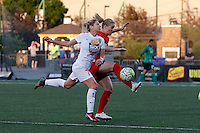 Rochester, NY - Friday June 17, 2016: Western New York Flash midfielder McCall Zerboni (7), Western New York Flash goalkeeper Britt Eckerstrom (28) during a regular season National Women's Soccer League (NWSL) match between the Western New York Flash and the Portland Thorns FC at Rochester Rhinos Stadium.