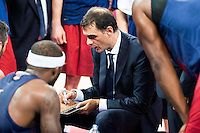 FC Barcelona Lassa's coach Georgios Bartzokas during the match of the semifinals of Supercopa of La Liga Endesa Madrid. September 23, Spain. 2016. (ALTERPHOTOS/BorjaB.Hojas)
