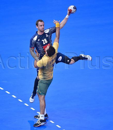 11.01.2017. Accor Arena, Paris, France. 25th World Handball Championships France versus Brazil. Valentin Porte (France)