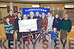 Cahersiveen Credit Union making a presentation of EUR5000 to Killorglin/Cahersiveen Credit Union Cycling Club on Wednesday evening in Cahersiveen pictured l-r; Eilish O'Neill(CCU), Eamon Casey, John Mangan(Chairperson Cycling Club), Mary Concannon(Secretary Cycling Club), Michael Prendergast(CCU), James Casey(CCU Director), Eoin Ryan, Michael O'Sullivan(CCU), Kathleen McCarthy(CCU), John O'Neill & front Ian O'Sullivan.