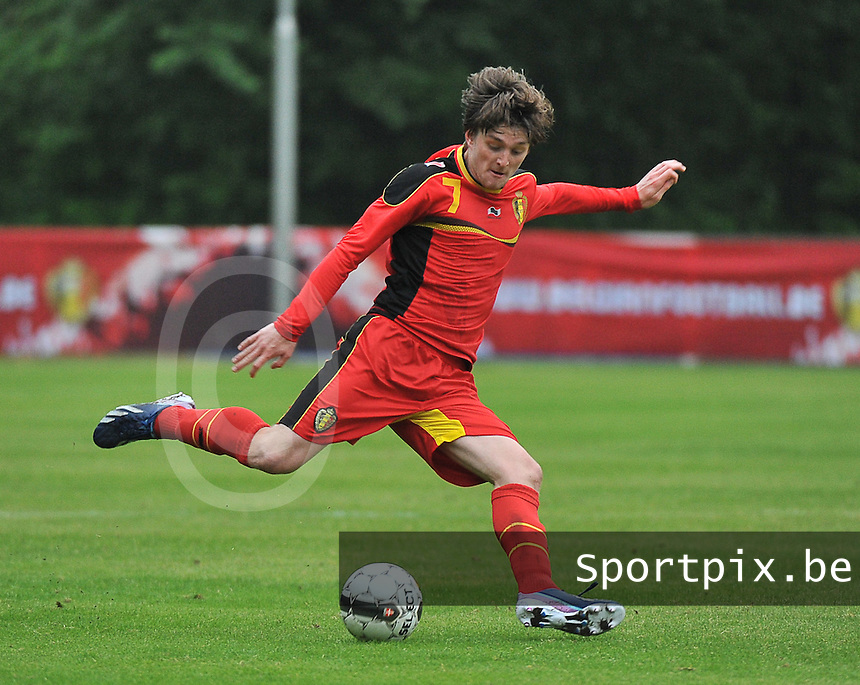 Georgia U19 - Belgium U19 : Thomas Foket<br /> foto DAVID CATRY / Nikonpro.be