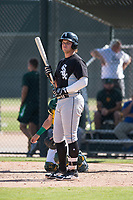 Chicago White Sox designated hitter Corey Zangari (25) at bat during an Instructional League game against the Oakland Athletics at Lew Wolff Training Complex on October 5, 2018 in Mesa, Arizona. (Zachary Lucy/Four Seam Images)