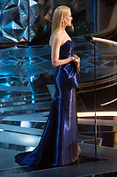 Nicole Kidman presents the Oscar&reg; for Best Original Screenplay during the live ABC Telecast of The 90th Oscars&reg; at the Dolby&reg; Theatre in Hollywood, CA on Sunday, March 4, 2018.<br /> *Editorial Use Only*<br /> CAP/PLF/AMPAS<br /> Supplied by Capital Pictures