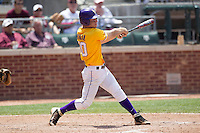LSU Tigers shortstop Alex Bregman (30) swings the bat against the Texas A&M Aggies in the NCAA Southeastern Conference baseball game on May 11, 2013 at Blue Bell Park in College Station, Texas. LSU defeated Texas A&M 2-1 in extra innings to capture the SEC West Championship. (Andrew Woolley/Four Seam Images).