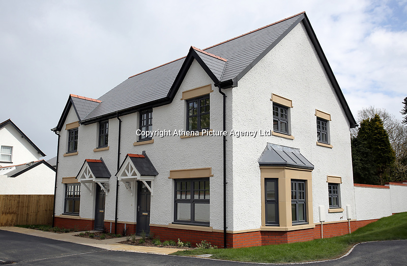 Pictured: Exterior view of the affordable homes. Wednesday 26 April 2017<br /> Re: Waterstone Homes' most recent property development Howell's Reach, is in Derwen Fawr, Swansea and is made up of 13 luxury family homes, and also includes five affordable homes.
