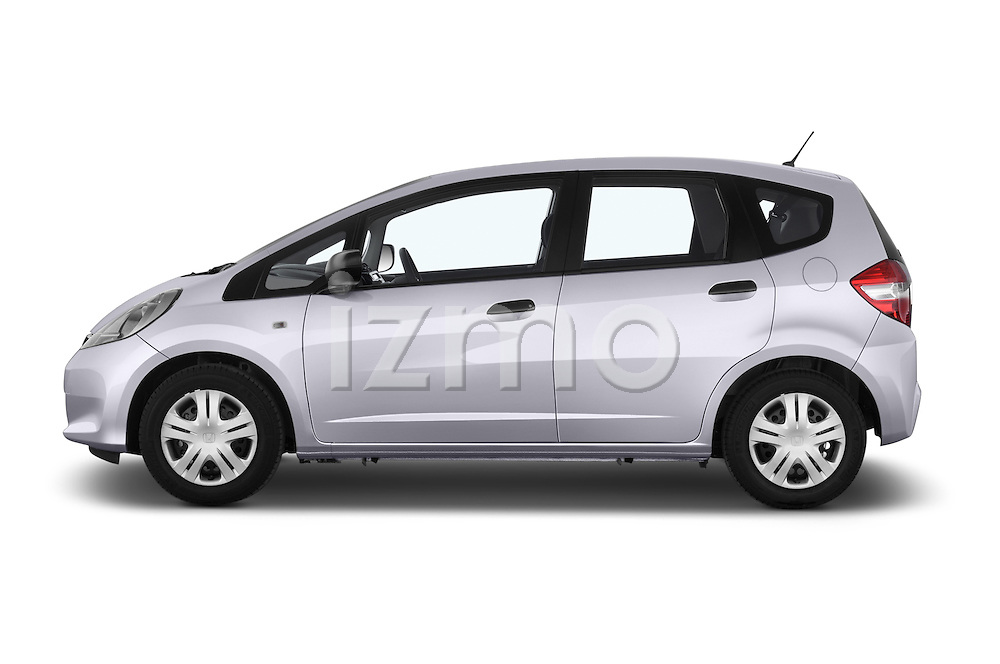 Car Driver side profile view of a 2014 Honda Jazz s 5 Door Hatchback 2WD Side View