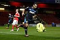 Filipe Morais of Stevenage scores the opening goal and turns away<br />  - Crewe Alexandra v Stevenage - Sky Bet League One - Alexandra Stadium, Gresty Road, Crewe - 22nd October 2013. <br /> © Kevin Coleman 2013