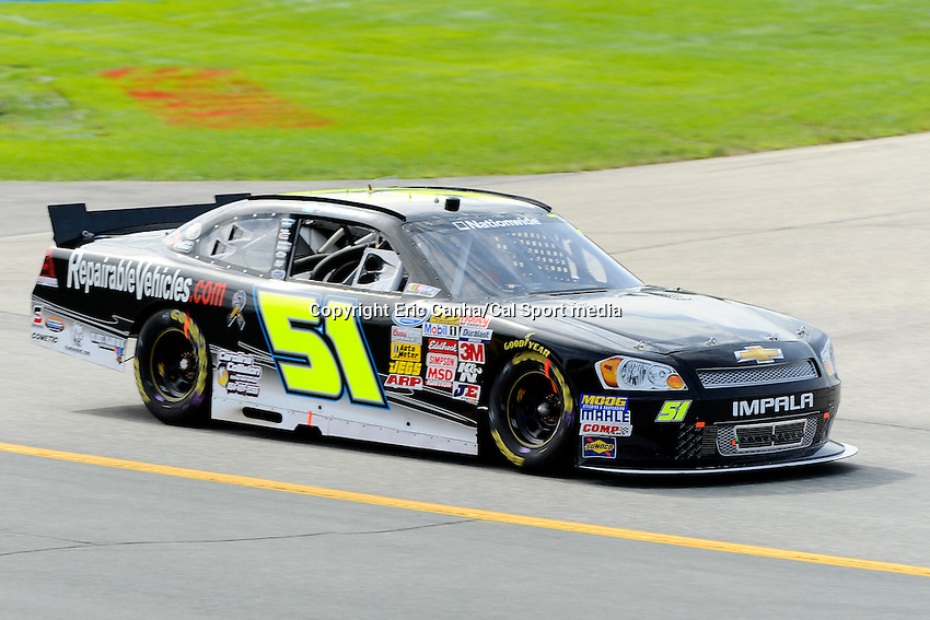 "July 13, 2013 - Loudon, New Hampshire U.S. - Nationwide Series driver Jeremy Clements (51) racing in the NASCAR Nationwide Series CNBC Prime's ""The Profit"" 200 race being held at the New Hampshire Motor Speedway in Loudon, New Hampshire.   Eric Canha/CSM"
