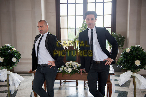 "LOUIE SPENCE & JAKE CANUSO.in Celebrity Wedding Planner (2012) (series 2, episode 1 ""Louie & Jake"").*Filmstill - Editorial Use Only*.CAP/NFS.Supplied by Capital Pictures."