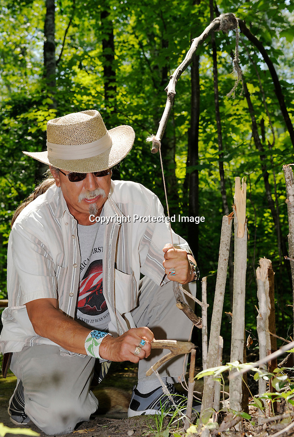 Native people honor their ancestors and follow their traditions as shown in this Ojibwa village (recreated) and pow-wows featuring dancing, drums and singing.