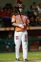 Yunesky Sanchez,durante el tercer juego de la serie de el partido Naranjeros de Hermosillo vs Venados de Mazatlan Sonora en el Estadio Sonora. 10 noviembre 2013. Liga Mexicana del Pacifico (MLP)