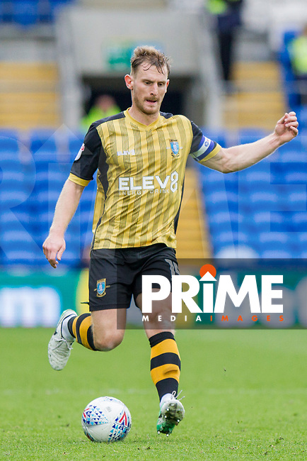 Tom Lees of Sheffield Wednesday during the Sky Bet Championship match between Cardiff City and Sheffield Wednesday at Cardiff City Stadium, Cardiff, Wales on 16 September 2017. Photo by Mark  Hawkins / PRiME Media Images.