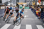 European Champion Matteo Trentin (ITA) Mitchelton-Scott in action during the 2018 Saitama Criterium, Japan. 4th November 2018.<br /> Picture: ASO/Pauline Ballet | Cyclefile<br /> <br /> <br /> All photos usage must carry mandatory copyright credit (&copy; Cyclefile | ASO/Pauline Ballet)