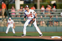 Baltimore Orioles shortstop Drew Jackson (6) during a Grapefruit League Spring Training game against the Detroit Tigers on March 3, 2019 at Ed Smith Stadium in Sarasota, Florida.  Baltimore defeated Detroit 7-5.  (Mike Janes/Four Seam Images)