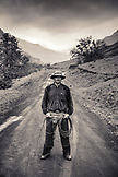 USA, Oregon, Joseph, portrait of cowboy Cody Ross in the canyon up Big Sheep Creek in Northeast Oregon
