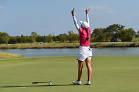 Cheyenne Knight (USA) drops her putter after winning the 2019 Volunteers of America Texas Classic, the Old American Golf Club, The Colony, Texas, USA. 10/6/2019.<br /> Picture: Golffile | Ken Murray<br /> <br /> <br /> All photo usage must carry mandatory copyright credit (© Golffile | Ken Murray)