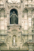 Located in the Plaza Mayor of downtown Lima, Peru, The Basilica Cathedral of Lima is a Roman Catholic cathedral and one of the cities most important landmarks. The building is dedicated to St John, Apostle and Evangelist.
