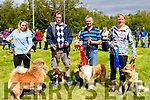 Entrants in the dog show at the Annual Glencar Cattle Show on Sunday<br /> L-R Claire Counihan with Giorgio, Hugh Dineen with Ruby, Simon O'Connor with Pippa & Anna Skepp with Ally both from Kenmare