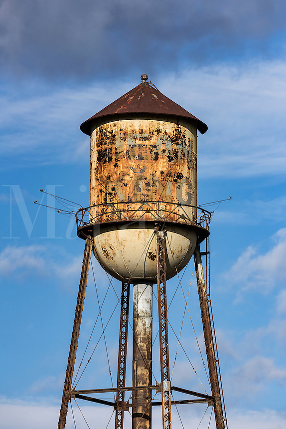 Old rusted water tower, Wilkes-Barre, Pennsylvania, USA