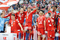 Bastian Schweinsteiger (FC Bayern Muenchen) und Thomas Mueller (FC Bayern Muenchen) <br /> Monaco 23.05.2015, Allianz Arena<br /> Bundesliga Bayern Monaco Campione di Germania 2014/2015 <br /> Foto EXPA/ Eibner-Pressefoto/ Insidefoto