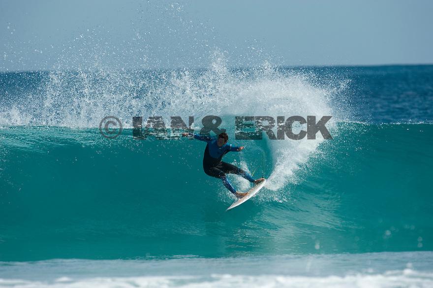 Ry Craike (AUS) at the Back Beach in Kalbarri in Western Australia.