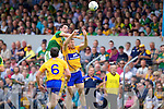 Anthony Maher, Kerry in action against Gary Brennan, Clare in the Munster Senior Championship Semi Final in Cusack Park, Ennis on Sunday.